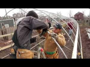 franklinton gardens building hoop house