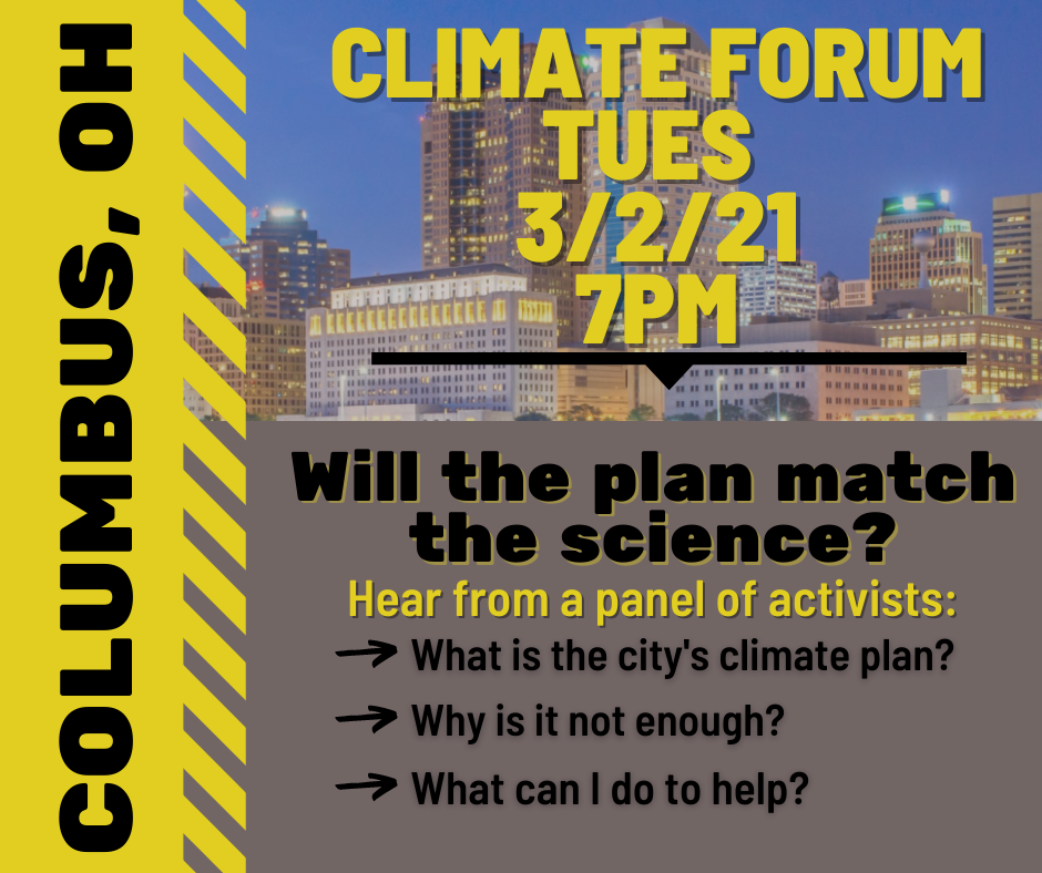 Action Alert: Tell Columbus To Match The Climate Plan To The Climate Science