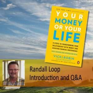 Your Money or Your Life workshop